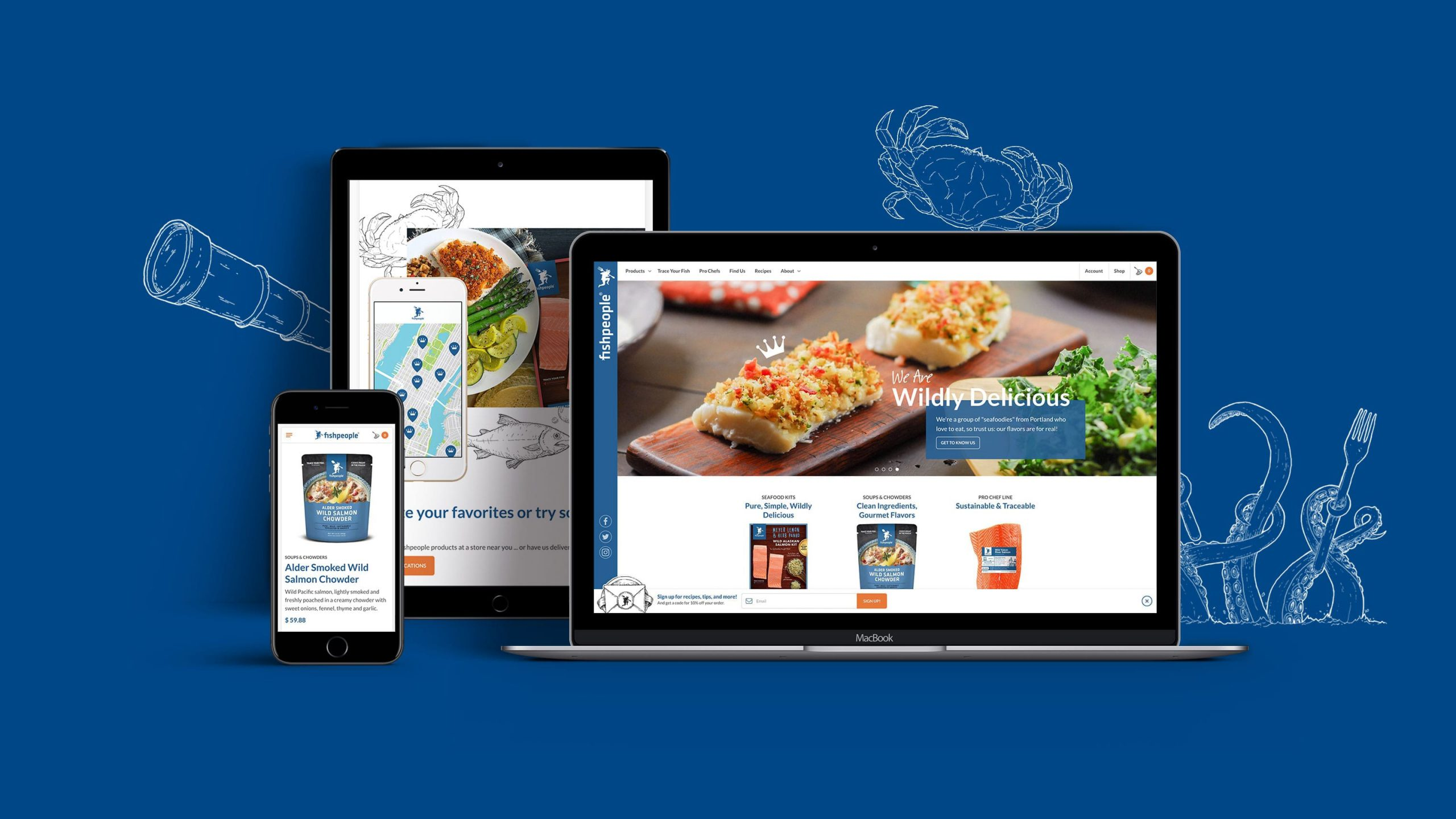 Fishpeople E-commerce Website Design and Development
