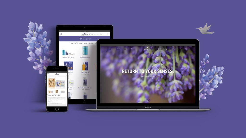 Osmia Organics E-commerce Website Design and Development